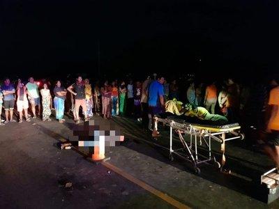 Cuerpo de indígena arrollado tumbó a motociclistas