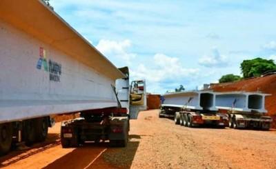 Inicia montaje de vigas de hormigón del Multiviaducto