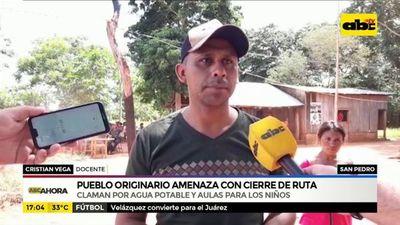 Pueblo originario de San Pedro amenaza con cierre de ruta