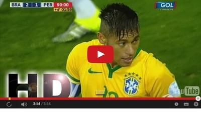 Brasil vs Perú (2-1) Goles Resumen Resultado Copa América 2015