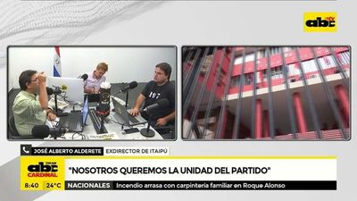 """Alderete: """"Nosotros queremos la unidad del partido"""""""