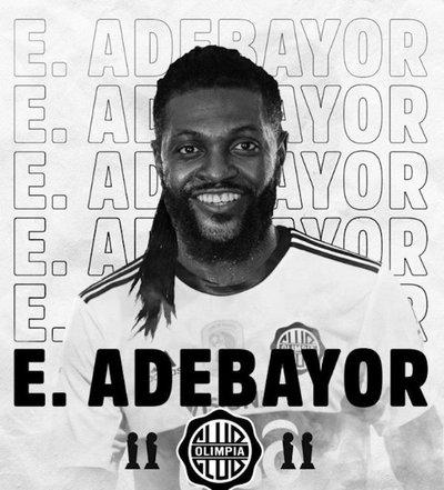 ¡Es oficial! Adebayor es nuevo jugador de Olimpia