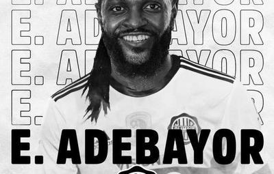 ¡Se viene el Clase A! Olimpia confirmó el fichaje de Adebayor