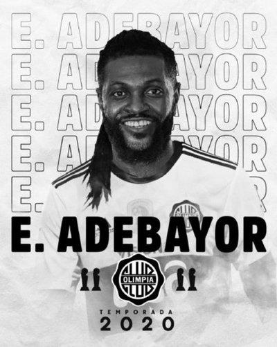 Olimpia hace oficial la llegada de Emmanuel Adebayor