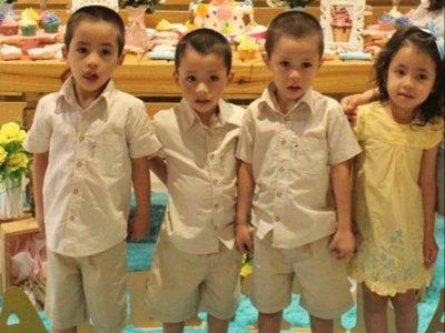 Cuatrillizos de San Lorenzo cumplen 5 añitos