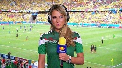 """Vanessa Huppenkothen """"la periodista más hermosa del Mundial 2014"""""""