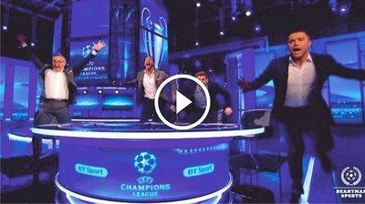 El loco festejo de Gerrard, Lineker, Ferdinand y Owen (Vídeo)