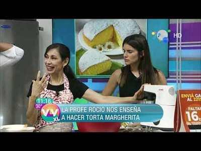 Pimientos rellenos de carne y queso y Torta Margherita