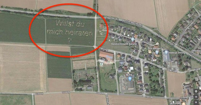 Pedido de casorio en Google Maps