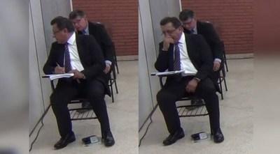 """¿Copiatín entre aspirantes a ministros de la Corte? Video los compromete pero afectado asegura que a su colega """"se le terminó la tinta del bolígrafo"""""""