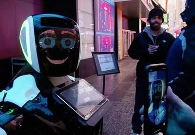 Nueva York: Robot interactivo diagnostica el coronavirus en pleno Times Square