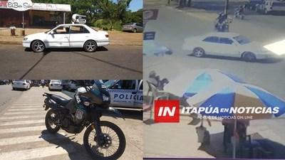 MOTOCICLETA DEL GRUPO LINCE INVOLUCRADA EN ACCIDENTE