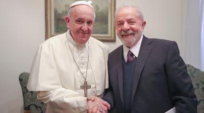 El papa Francisco recibió a Lula da Silva en el Vaticano