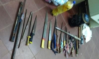 """Requisan hasta """"machetes"""" en penitenciaría de San Pedro"""