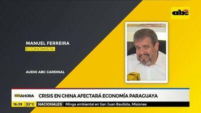 Crisis en china afectará la economía paraguaya, afirma exministro de hacienda