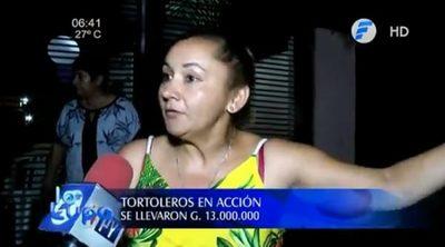 Tortoleros se llevan G. 13 millones en Luque