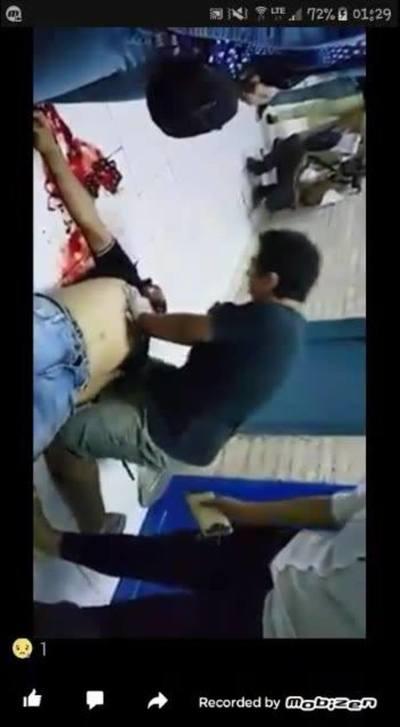 Policías asesinaron anoche a dirigente joven del #PLRA, en el vídeo se observa que trataban de reanimarlo pero fue en vano.