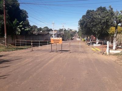 Calles de Piribebuy se encuentran clausuradas