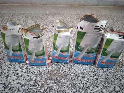 Incautan en Penal de Concepción cartones de leche que contenían bebidas alcohólicas