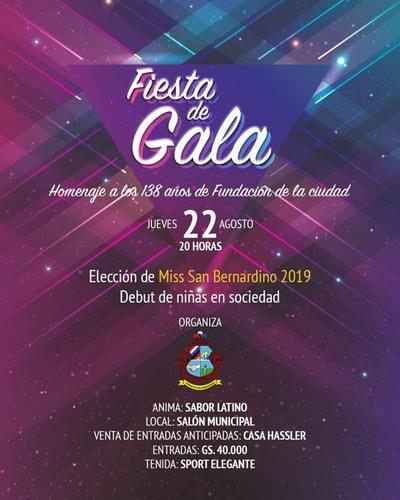 Se viene la Elección de Miss San Bernardino 2019 y Noche de Gala Debut de Niñas en Sociedad