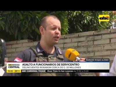 Mariano Roque Alonso: Asalto a funcionarios de servicentro