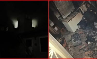 Incendio consume parte de una casa parroquial