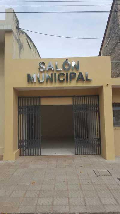 Reconstrucción de Salón Municipal en Eusebio Ayala llega a etapa final