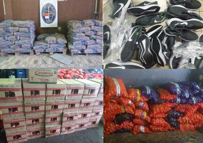La Aduana incauta gran cantidad de productos en Ciudad del Este
