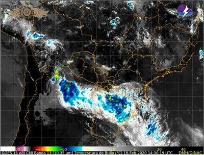 Aviso de tormentas eléctricas y fuertes ráfagas de viento para centro y sur del país