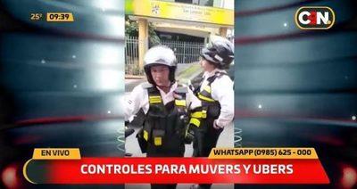 San Lorenzo controla a conductores de MUV y Uber