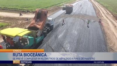 AVANZAN LAS OBRAS DEL CORREDOR BIOCEÁNICO EN LA LOCALIDAD CHAQUEÑA DE LOMA PLATA