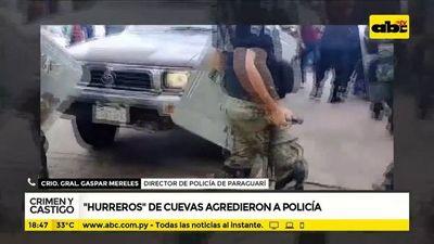 Hurreros de Cuevas agredieron a policía