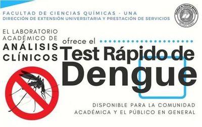 Química UNA ofrece económico test rápido de dengue