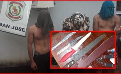 Tres detenidos tras asalto en colectivo