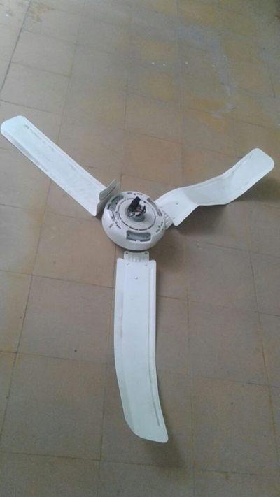 Cayó ventilador sobre pacientes en hospital de Santaní