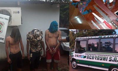 Procesan a tres hombres que habrían asaltado a chofer y pasajeros de un ómnibus