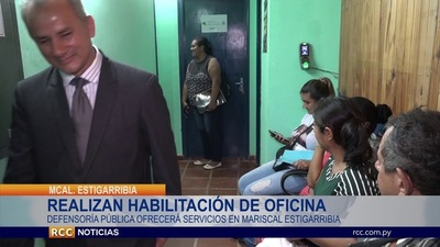 HABILITAN OFICINA DE DEFENSORÍA PÚBLICA EN MARISCAL ESTIGARRIBIA