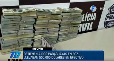 Detienen a paraguayas en Foz de Iguazú con USD 500.000 ilegales