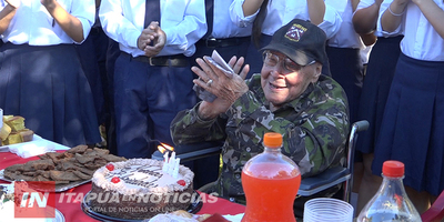 EL TENIENTE DIEGO MARTÍNEZ CELEBRA 102 AÑOS EN ENCARNACIÓN.
