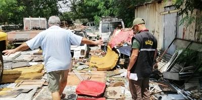 Intervienen taller en Asunción por mal manejo de residuos