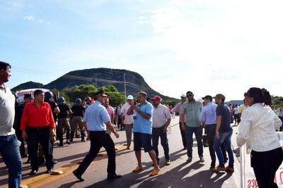 Ministro del Interior ratifica apoyo al comisario que realizó el despeje de ruta en Paraguarí