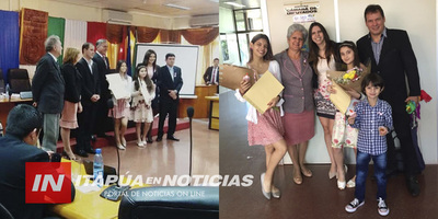 JUNTA DEPARTAMENTAL RECONOCIÓ A DESTACADAS BAILARINAS ITAPUENSES