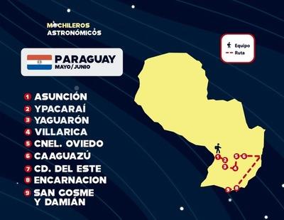 Mochileros Astronómicos en Paraguay