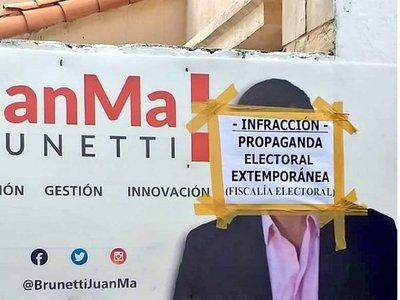 Intervienen propaganda electoral extemporánea