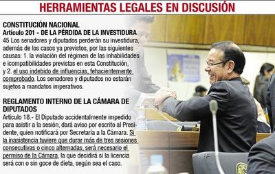 Diputados discuten si expulsan a los presos Cuevas y Quintana