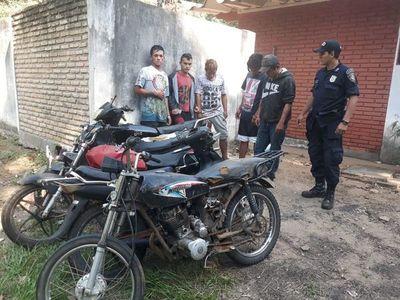 Desbaratan grupo dedicado al hurto de motos y al robo domiciliario
