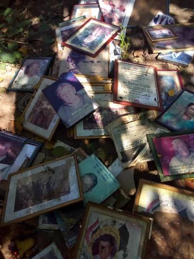 Fotografías de excombatientes del Chaco entre cloacas, en Limpio