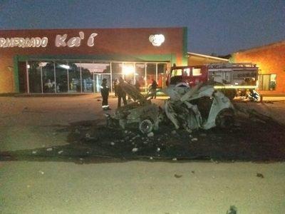 Fatal accidente de tránsito en Loma Plata, Chaco: vehículo se incendió y víctima pereció calcinada