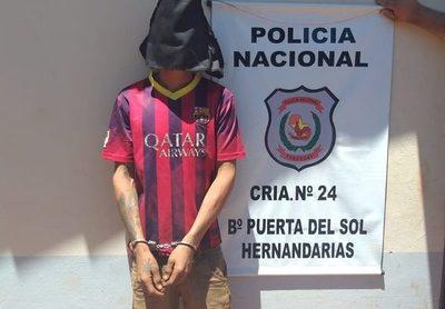 Detienen a delincuente en Hernandarias