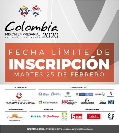 Este martes cierra inscripción para empresas interesadas en participar de misión en Colombia